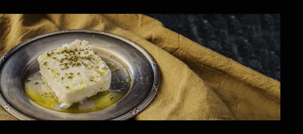 Assiette de feta à l'Huile d'Olive HOVEA Vierge Extra